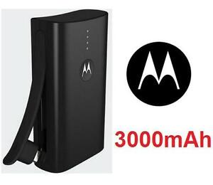 NEW MOTOROLA PORTABLE BATTERY PACK 3000mAh Power Pack Micro USB charging Build-in  Cell Phone Accessories 103939477
