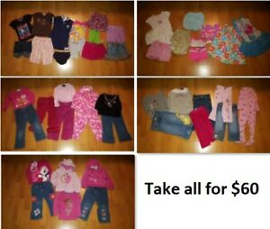 2T Girls Clothing Lot 1 (Take 47 Pieces for $60)