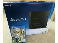 NEW Playstation 4 500gb Black and Fifa 2017