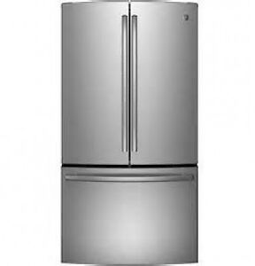 SAVE 1000..NEW GE FRENCH DOUBLE DOOR STAINLESS FRIDGE IN BOX