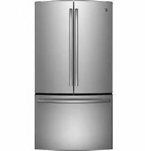 SAVE 1000.. NEW GE STAINLESS STEEL DOUBLE DOOR FRIDGE IN BOX