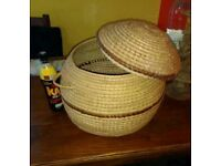 Two baskets for storage
