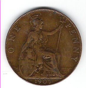 Coin 1907 Great Britain 1 Cent Penny Kingston Kingston Area image 2