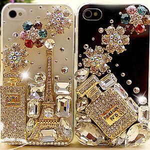 3dalloy crystal perfume bottle eiffel tower diy mobile iphone case deco den kit ebay. Black Bedroom Furniture Sets. Home Design Ideas