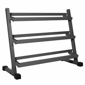 Brand New Commercial 3 Tier Dumbbell Rack - Weights Gym Dumbbells Storage