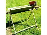 Galvanised Log horse