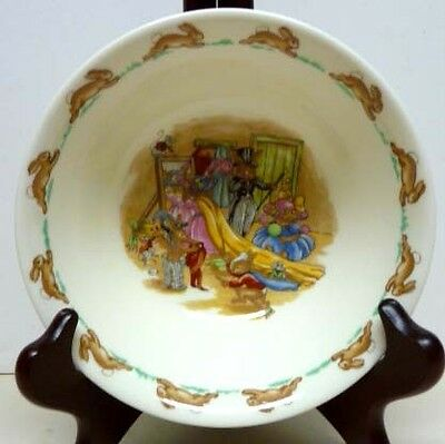 Cereal Dish - Royal Doulton  Bunnykins CEREAL DISH-1959-1975-REGD.TRADE MARK-READY TO GO OUT