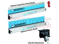 OX SPEEDSKIM TWINPACK 900MM METAL SF900 SUPERFLEX & ST900 PLASTIC + POLE ATTACHMENT