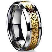 18K Gold Ring Mens