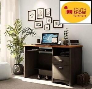 "NEW* SOUTH SHORE COMPUTER DESK EBONY  SPICE - 54""x27""x7"" - GASCONY 103461121"