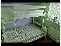 Wooden triple sleeper bunk bed