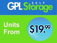 GPL Self Storage - Indoor units as low as $19.99/month!