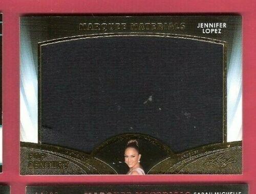 JENNIFER LOPEZ JUMBO WORN WARDROBE RELIC SWATCH CARD 2016 LEAF POP CENTURY GOLD