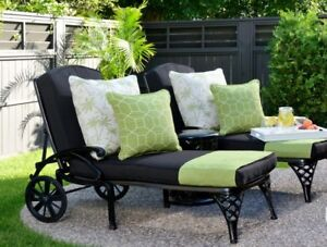 Outdoor drapes, curtains, cushions, Sunbrella fabrics