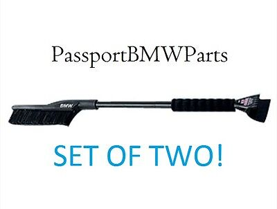 BMW OEM Snow and Ice Remover - Hand Brush, Ice Scraper - SET OF TWO 82110017663