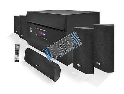 400 Watt 5 1 Channel Home Theater System With Am Fm Tuner  Cd  Dvd   Mp3 Player