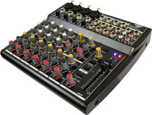 New Pyle PEXM1202 12 Channel Professional Audio Mixer with 3 Band EQ DJ Pro