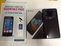 NOKIA LUMIA 550 8GB MOBILE PHONE in BLACK **UNLOCKED** BOXED**