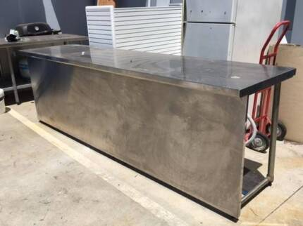 Stainless Steel Catering Bench with Electrics