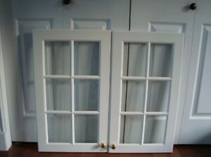 Glass Panel Doors for Kitchen Cabinets  $80