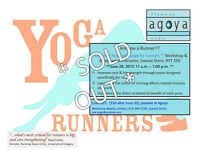 SOLD OUT Yoga for Runners at Agoya Fitness and Studio