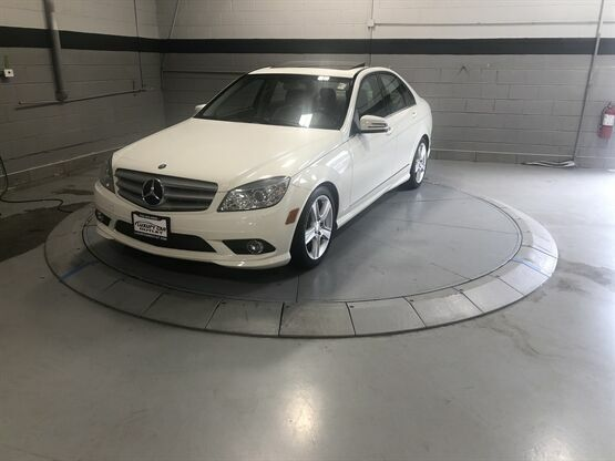 2010 Mercedes-Benz C-Class 300 4MATIC Sport White Luxury Car Outlet 630-405-1784