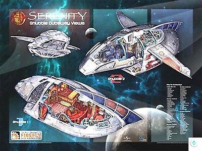 Serenity/Firefly Cutaway Ship Poster-Shuttle View (SEPO-QMX-CUT-3)