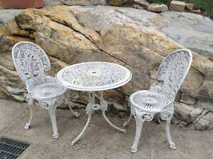 Cast Iron Outdoor 3 piece setting Cheltenham Hornsby Area Preview