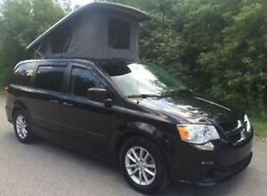 VR Illusion 5 mars 2014 Dodge Grand Caravan noir style Westfalia