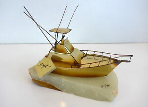 Signed Demott Fishing Boat    Original with Tag,,  VERY RARE Cambridge Kitchener Area image 2