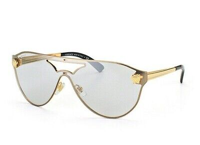 Versace 2161 1002/6G Gold Silver Flash Mirror Authentic Sunglasses (Versace Sunglasses Men Cheap)