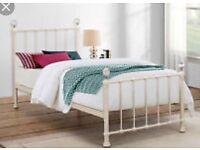 White single bed frame