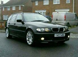 BMW 320D M SPORT E46 , BLACK , TAN LEATHERS MINT CONDITION