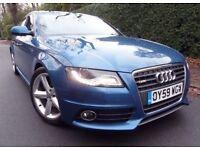 2009 59 Audi A4 2.0 tdi S-Line automatic saloon blue