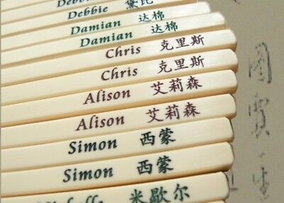Personalised Plastic Chopsticks engraved with your First Name and Chinese name