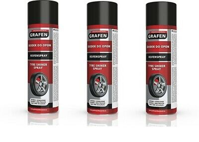 3x Grafen Reifenpflege Spray Reifenreiniger Reifen Pflege schmutzabweisend 500ml