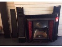 Two Victorian fire places with Welsh Slate surrounds