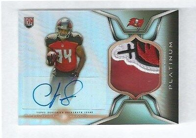2014 Topps Platinum Charles Sims Auto Patch Relic Rookie Tampa Bay Buccaneers