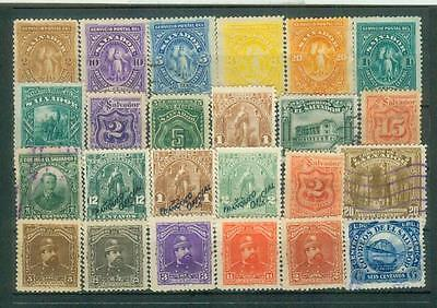 Lot ältere Briefmarken aus El Salvador