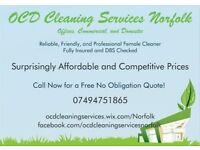 OCD Cleaning Services Norfolk. Offices, Commercial and Domestic