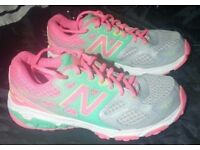 Genuine New Balance women size 4 37 sport shoes fitness running trainers sneakers