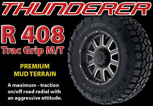 Thunderer M/T Tires Atturo Toyo Nitto Comparable 33 35 37