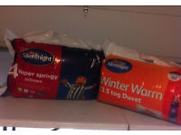 Winter warm double duvet and pillows