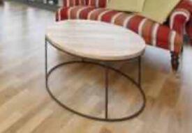Real Mango Wood, Modern, Industrial Coffee Table