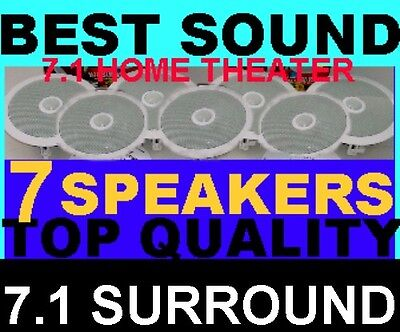 """7.1 HOME THEATER CEILING SPEAKERS - 8"""" TOP-OF-THE-LINE SYS"""