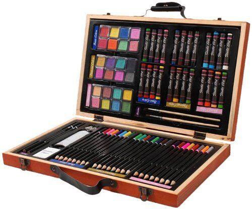 Darice 80-Piece Deluxe Art Set – Art Supplies for Drawing,