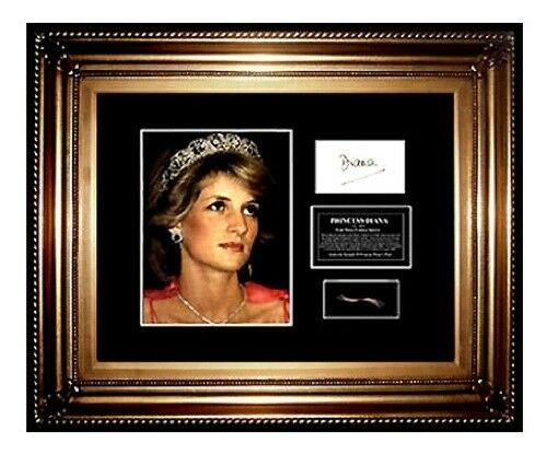Princess DIANA Hair Lock photo Signed letter Royal CHARITY Lady Di Memorabilia