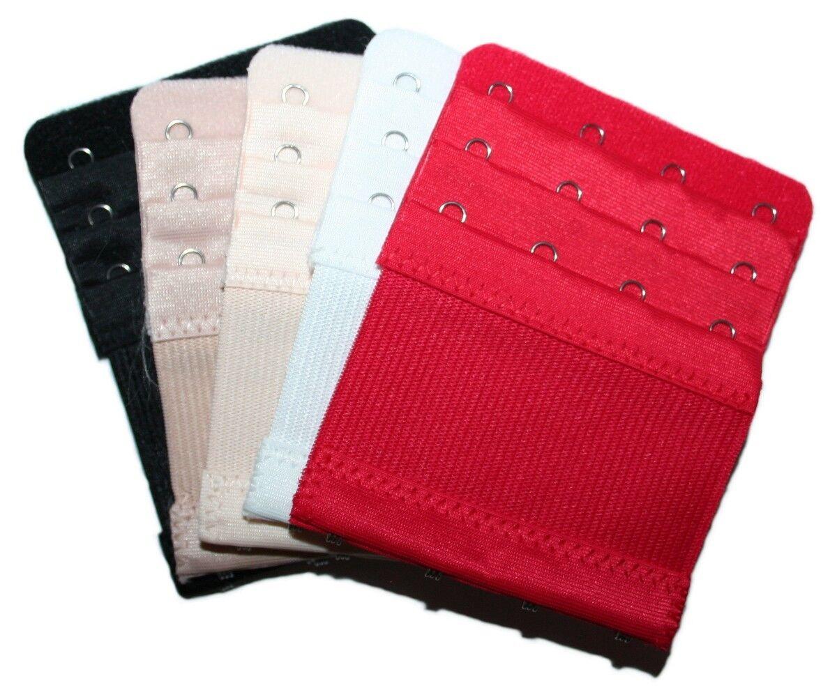 elastische BH Verlängerung, 4 Haken, 3 Stufen, 10 cm, 5 Farben zur Auswahl