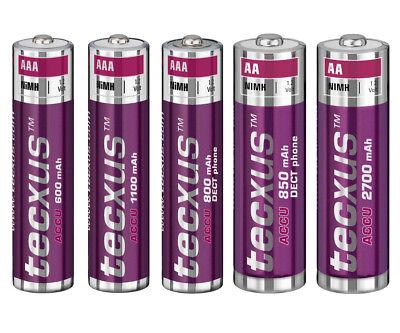 Tecxus Power Akku Batterie Mignon AA / Micro AAA 600 - 2700 mAh 12886