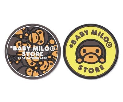 A BATHING APE BABY MILO RUBBER COASTER Set of 2 ~ BABY MILO STORE Japan